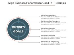 Align Business Performance Good Ppt Example
