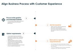 Align Business Process With Customer Experience Improvement Ppt Slides Show