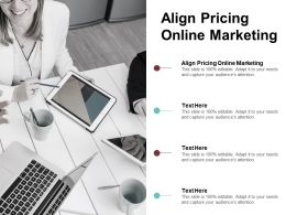 Align Pricing Online Marketing Ppt Powerpoint Presentation File Layouts Cpb