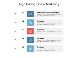 Align Pricing Online Marketing Ppt Powerpoint Presentation Icon Summary Cpb
