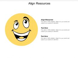 Align Resources Ppt Powerpoint Presentation Icon Format Ideas Cpb