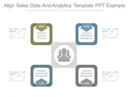 Align Sales Data And Analytics Template Ppt Example