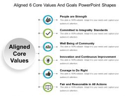 Aligned 6 Core Values And Goals Powerpoint Shapes