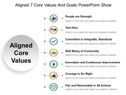 Aligned 7 Core Values And Goals Powerpoint Show