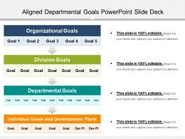 Aligned Departmental Goals Powerpoint Slide Deck