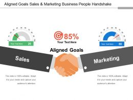 Aligned Goals Sales And Marketing Business People Handshake