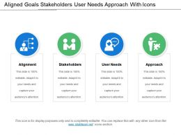 Aligned Goals Stakeholders User Needs Approach With Icons