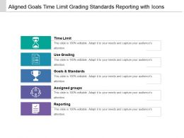 Aligned Goals Time Limit Grading Standards Reporting With Icons
