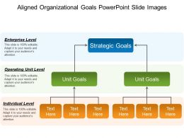Aligned Organizational Goals Powerpoint Slide Images