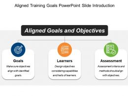 Aligned Training Goals Powerpoint Slide Introduction