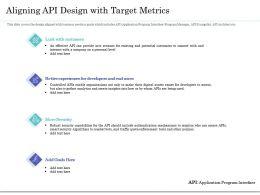 Aligning API Design With Target Metrics Ppt Icon Designs
