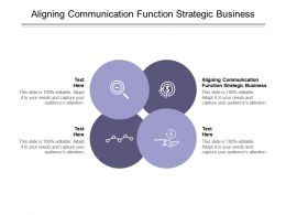 Aligning Communication Function Strategic Business Ppt Powerpoint Presentation Slides Designs Cpb