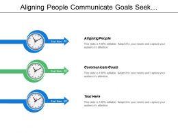 Aligning People Communicate Goals Seek Commitment Build Teams