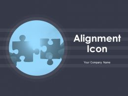 Alignment Icon Business Management Marketing Strategy