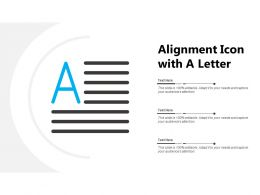 Alignment Icon With A Letter