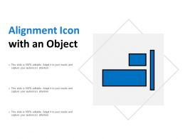 Alignment Icon With An Object