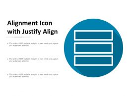 Alignment Icon With Justify Align