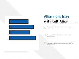 Alignment Icon With Left Align