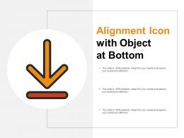 Alignment Icon With Object At Bottom