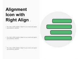 Alignment Icon With Right Align