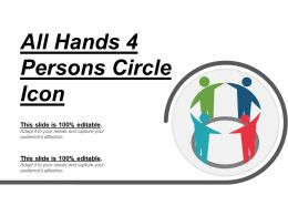 All Hands 4 Persons Circle Icon