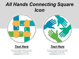 All Hands Connecting Square Icon