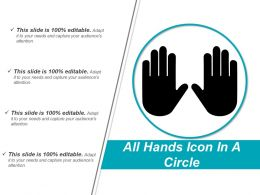 All Hands Icon In A Circle