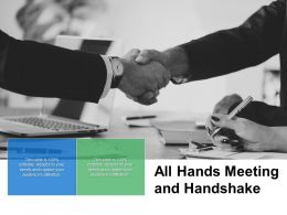 All Hands Meeting And Handshake