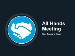 All Hands Meeting Announcements And Reminders Of Events