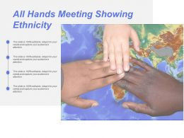 All Hands Meeting Showing Ethnicity