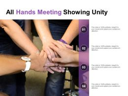All Hands Meeting Showing Unity