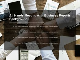 All Hands Meeting With Business Reports In Background