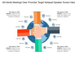 All Hands Meetings Gear Promoter Target Notepad Speaker Screen Idea