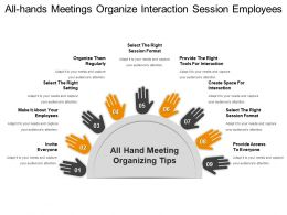 All Hands Meetings Organize Interaction Session Employees