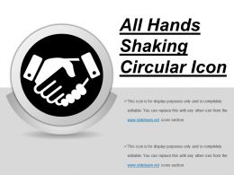 All Hands Shaking Circular Icon