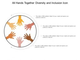 All Hands Together Diversity And Inclusion Icon