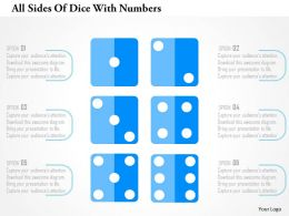 All Sides Of Dice With Numbers Flat Powerpoint Design
