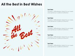 All The Best In Best Wishes