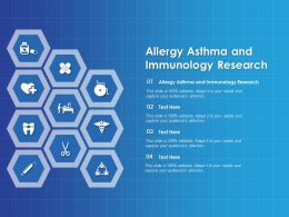 Allergy Asthma And Immunology Research Ppt Powerpoint Presentation Visual Template