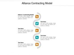 Alliance Contracting Model Ppt Powerpoint Presentation Background Cpb