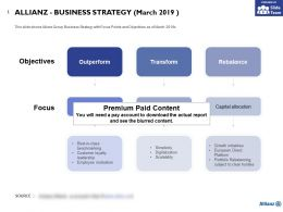 Allianz Business Strategy March 2019
