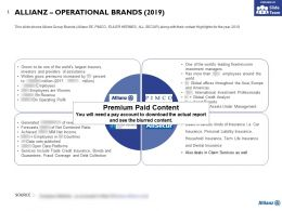 Allianz Operational Brands 2019