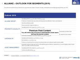 Allianz Outlook For Segments 2019