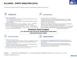 Allianz Swot Analysis 2018