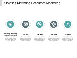 Allocating Marketing Resources Monitoring Ppt Powerpoint Presentation Show Cpb