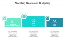 Allocating Resources Budgeting Ppt Powerpoint Presentation Format Cpb