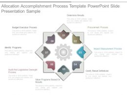 Allocation Accomplishment Process Template Powerpoint Slide Presentation Sample