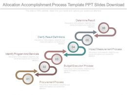 Allocation Accomplishment Process Template Ppt Slides Download