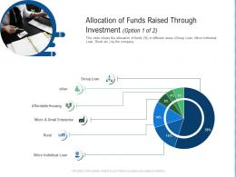 Allocation Of Funds Raised Through Investment Option Of Loan Raise Funding From Post IPO Ppt Tips