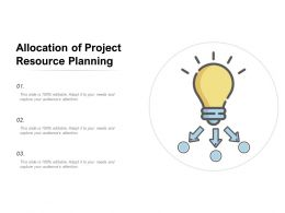 Allocation Of Project Resource Planning